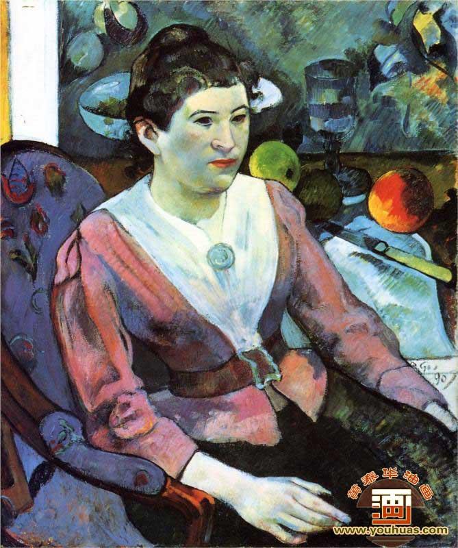 《女士画像》_高更油画作品欣赏-黄泰华油画官方网站