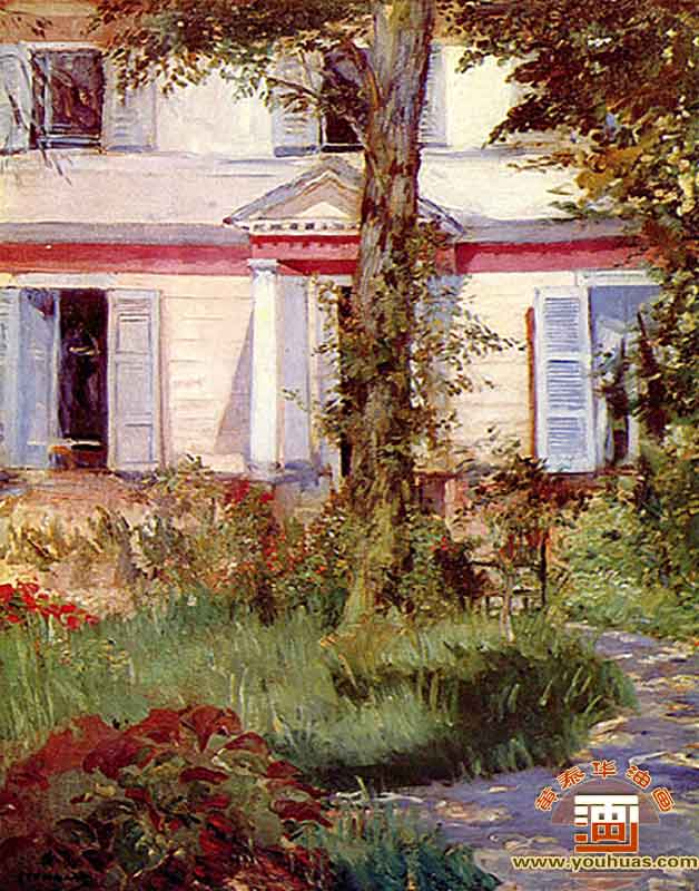房子在呂埃爾_愛德華·馬奈油畫