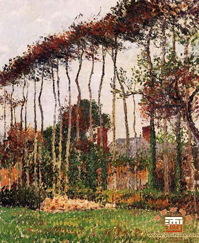 瓦朗日维尔的风景_毕沙罗油画_毕沙罗作品欣赏