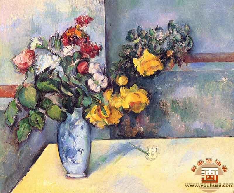 鲜花室内花卉-塞尚油画_保罗·塞尚作品欣赏