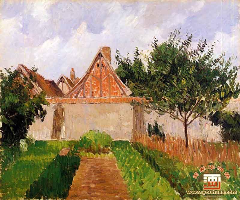哈格尼的花园风景画_毕沙罗作品欣赏