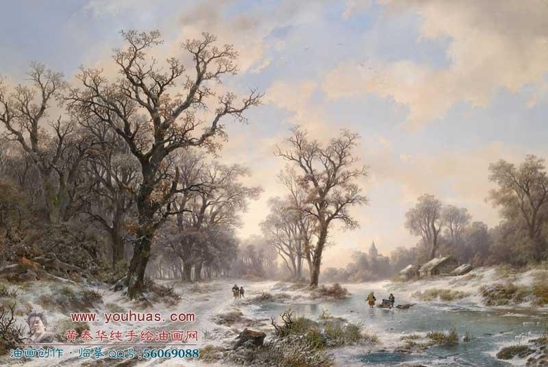 19世纪古典油画风景
