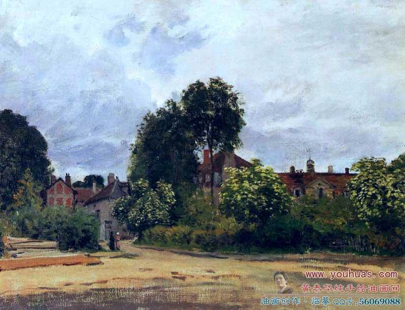 世界著名画家莫奈油画作品:印象派风景市容创作完成:1872年claude