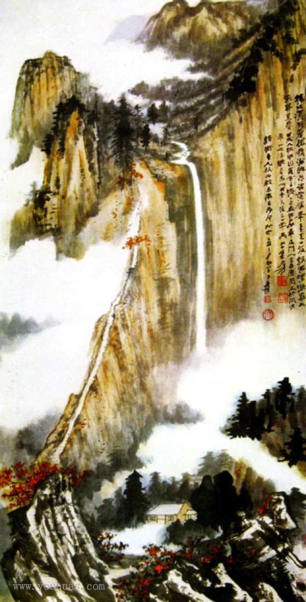 【张大千山水画】张大千中国山水画作品欣赏