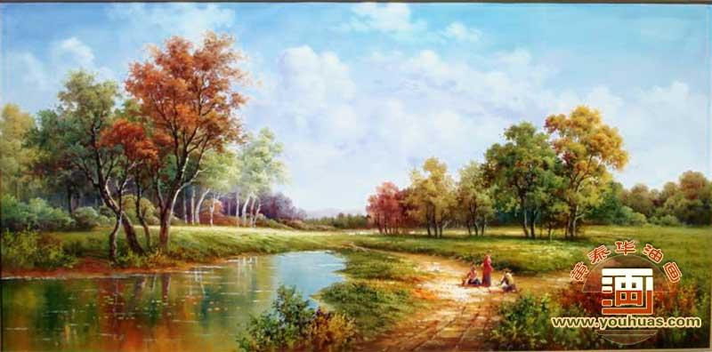 ty8003田园风景油画