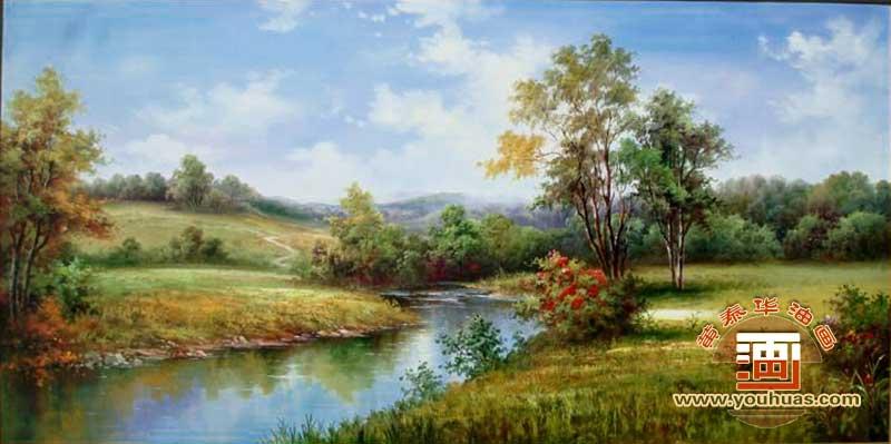 ty8013田园风景油画