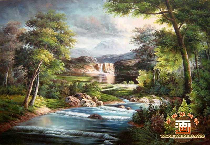 ty8025田园风景油画