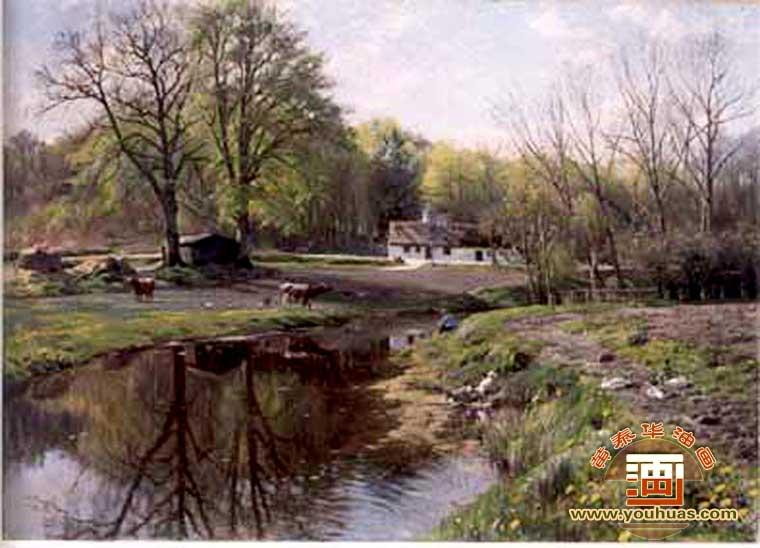 欧式古典田园风景油画