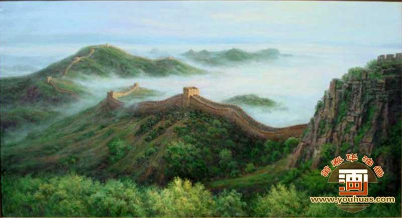 金山岭长城长城风景油画