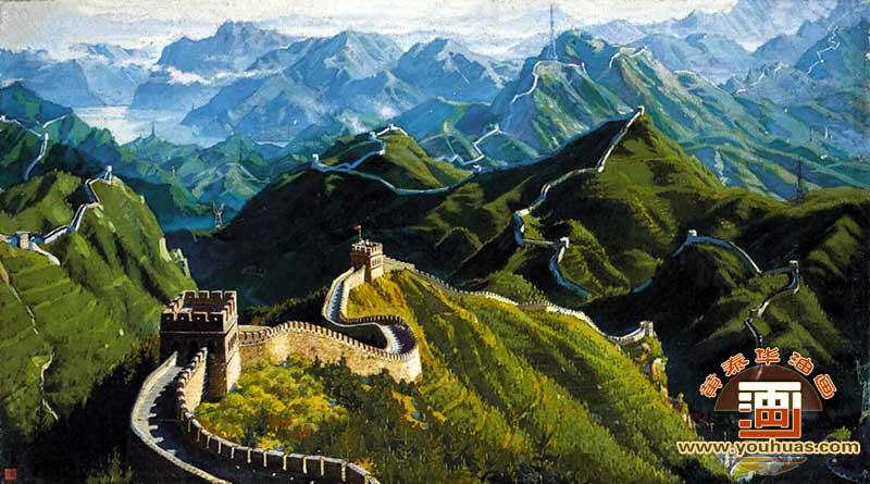 人民大会堂长城油画风景画