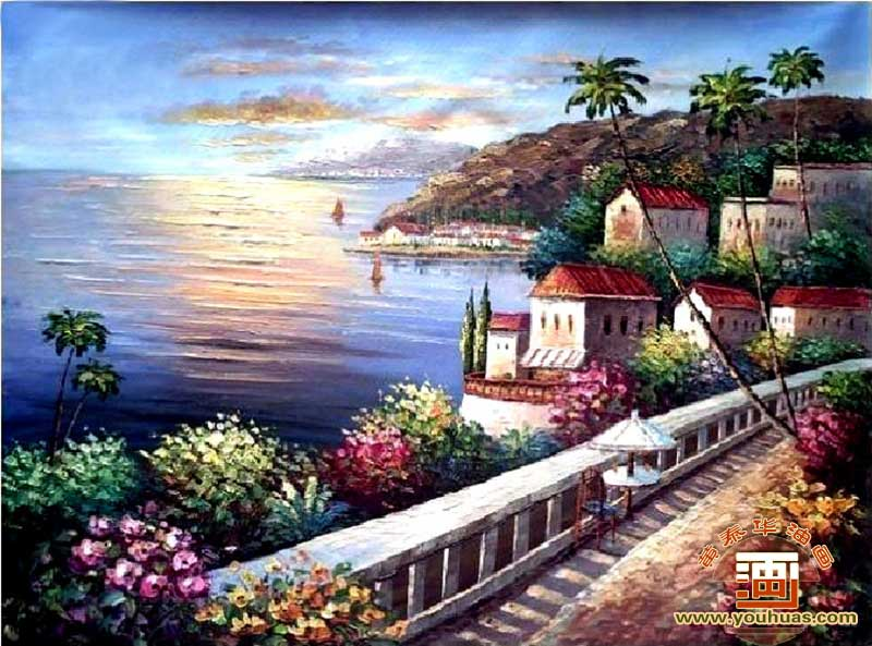 【地中海油画风景 地中海风格油画作品