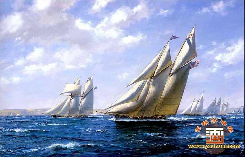 fc8006帆船油画风景