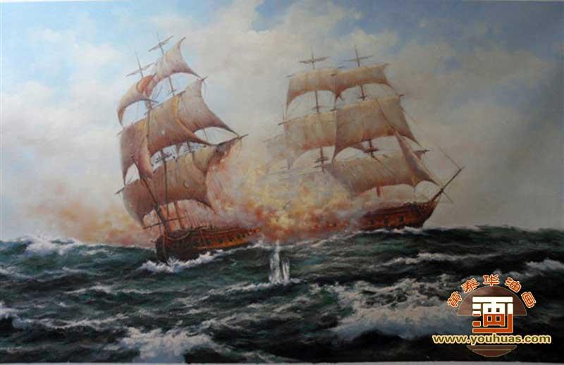 fc8009帆船油画风景