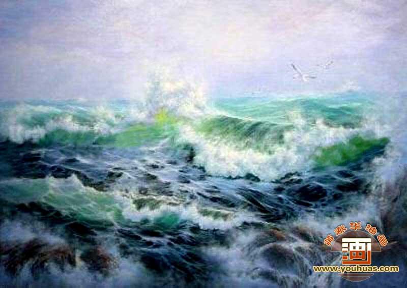 【海景 海浪油画风景】 _黄泰华油画官方网站