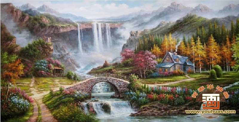 托马斯风景画欧美古典风格