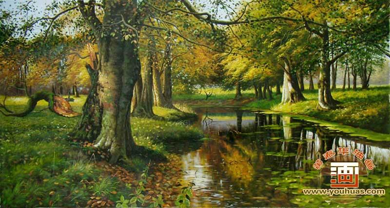 sl8001森林风景画