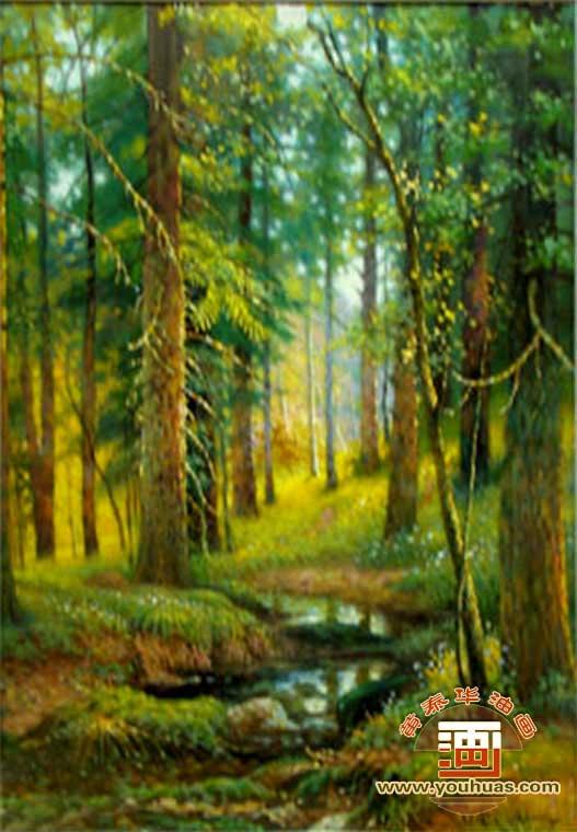 sl8052森林风景油画