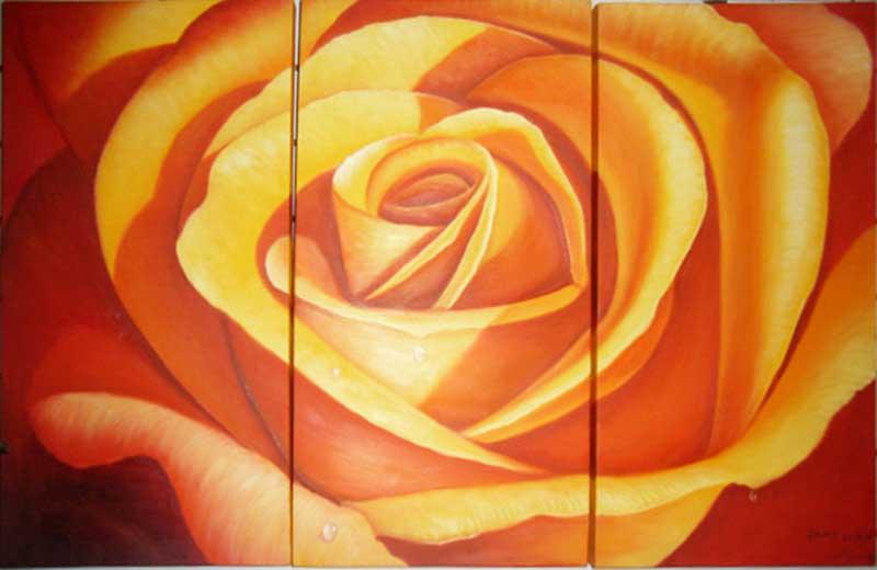 玫瑰花油画