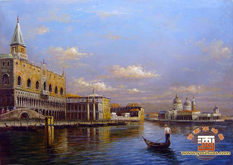 威尼斯水城油画风景作品