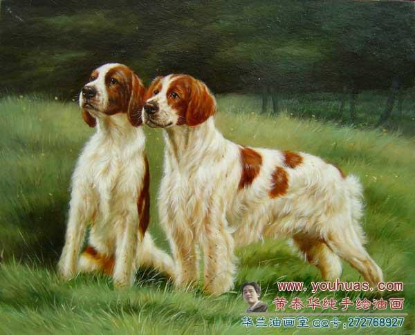 【狗类油画】宠物犬动物油画作品