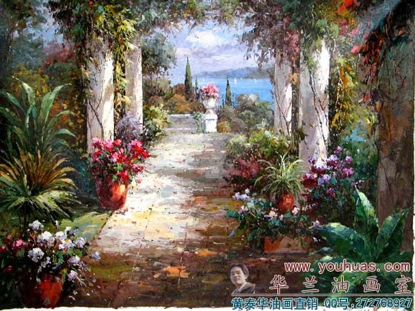 【地中海油画风景】地中海风格写实派地中海风景油画