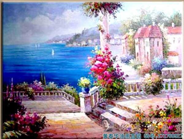 地中海油画】地中海|地中海油画|地中海风格油画风景
