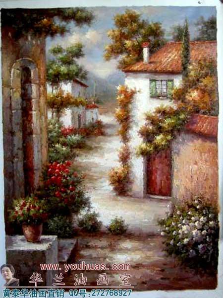 >> 油画作品 >> 风景油画 >> 地中海油画_8018