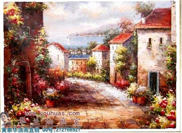 地中海油画作品 地中海风景
