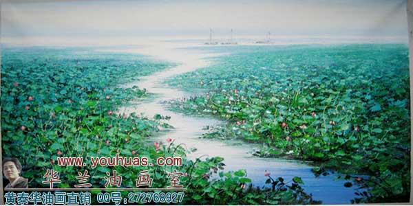 山水风景油画作品 田园油画欧美风景油画作品800