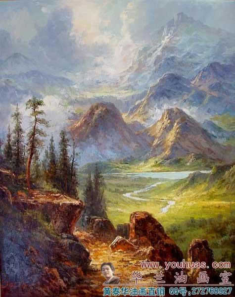风景油画/古典风景f231;;