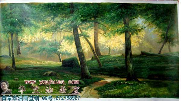 【森林风景油画】森林油画风景画|俄罗斯油画作品