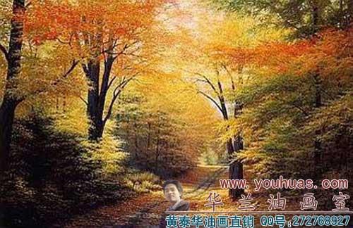 森林风景油画_8028