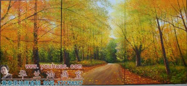 森林风景油画_8056
