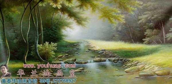 森林风景油画_8059