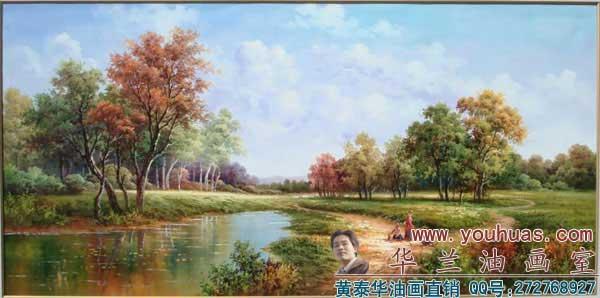 【田园风光油画风景】写实派田园风景田园油画作品