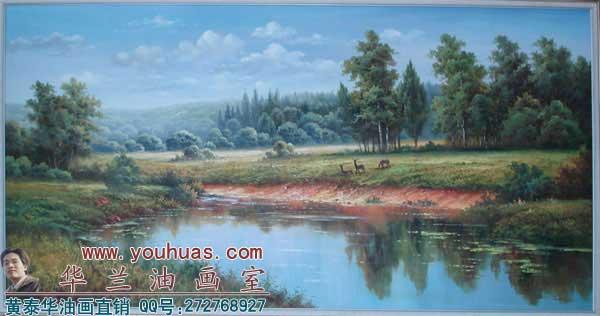 田园风光油画/田园油画风景/田园风景油画作品; 田园风光 油画作品